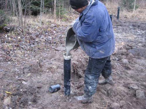 бетонирование винтовых свай